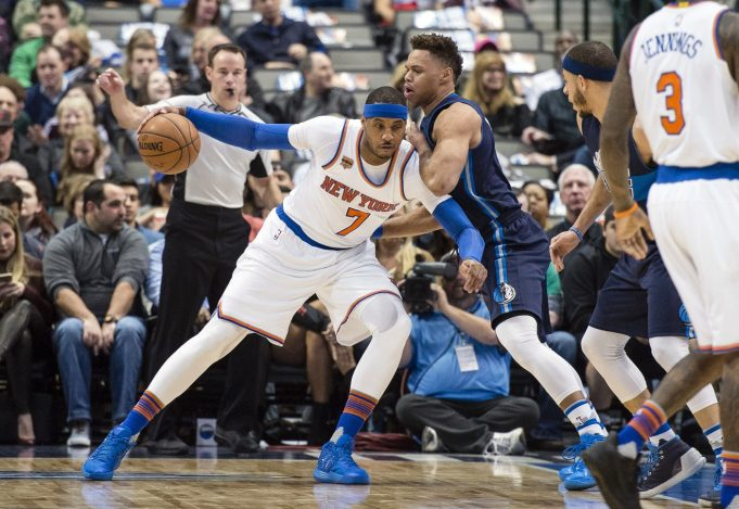 New York Knicks: Another big night from Carmelo Anthony is spoiled in loss to Mavs (Highlights)