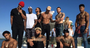 New York Giants wide receivers in Miami hanging out with Justin Bieber (Photo)