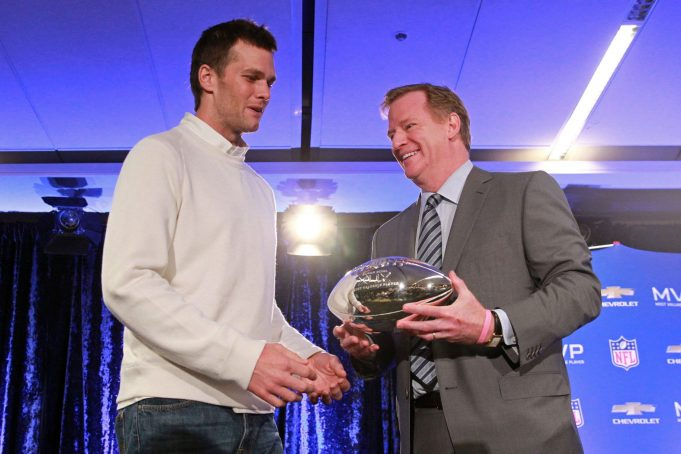 Roger Goodell claims handing Vince Lombardi Trophy to Tom Brady won't be awkward