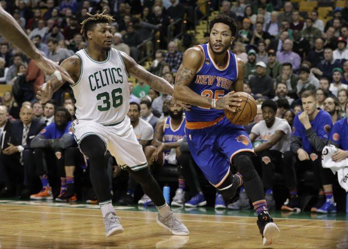 New York Knicks get huge effort from bench in road upset win vs. Celtics (Highlights)
