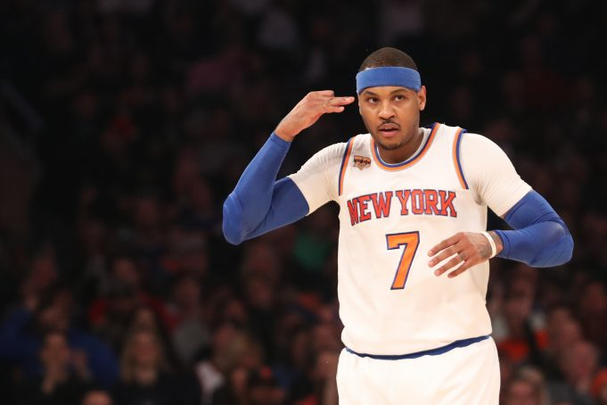 New York Knicks: Carmelo Anthony's late and close field goal percentage is terrible