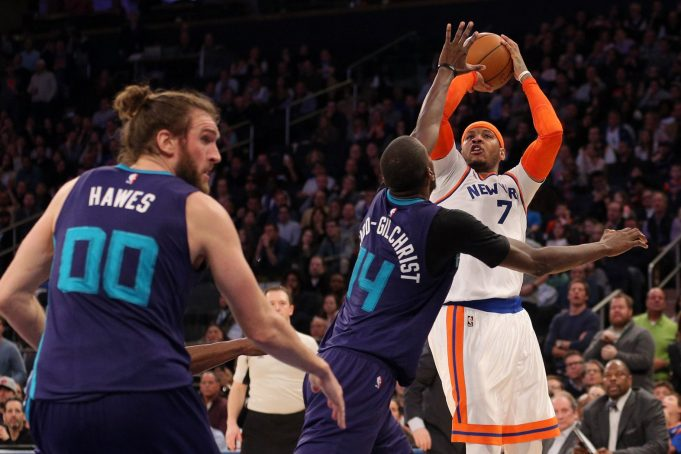 Carmelo Anthony reacts towards the fickle New York Knicks fans 1