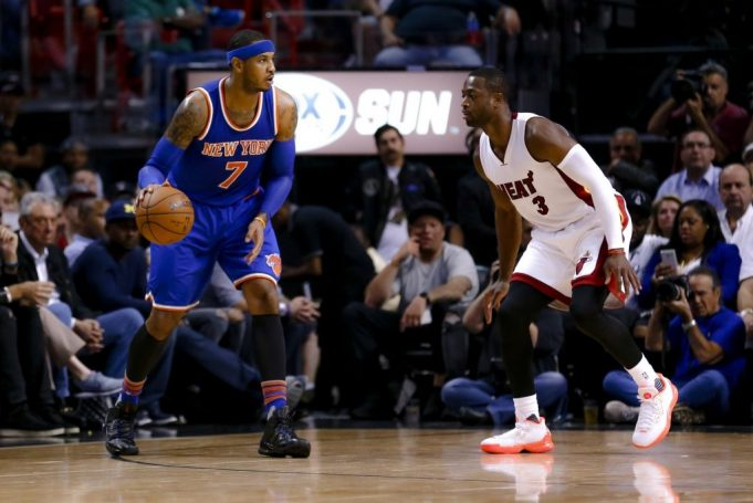 New York Knicks vs. Chicago Bulls: Dwyane Wade says Carmelo Anthony will stay 'win, lose, or draw'