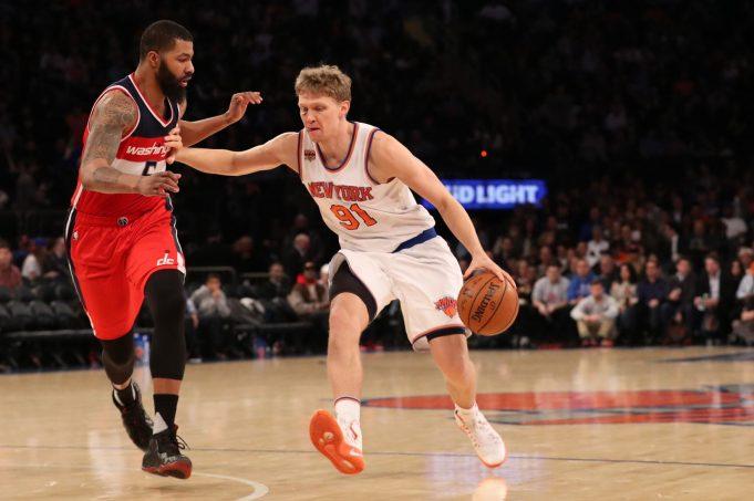 New York Knicks: Phoenix Suns 'express interest' in Mindaugas Kuzminskas (Report)