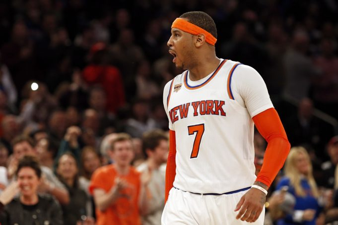 Carmelo Anthony named injury replacement to NBA All-Star Game