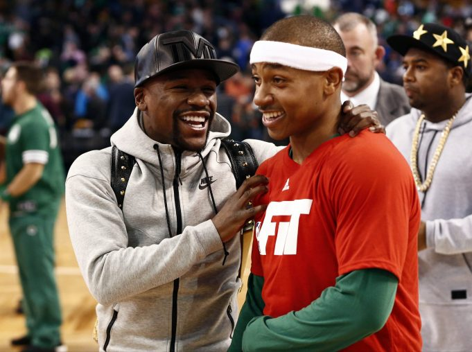 Why wasn't Floyd Mayweather at Adrien Broner's fight Saturday?