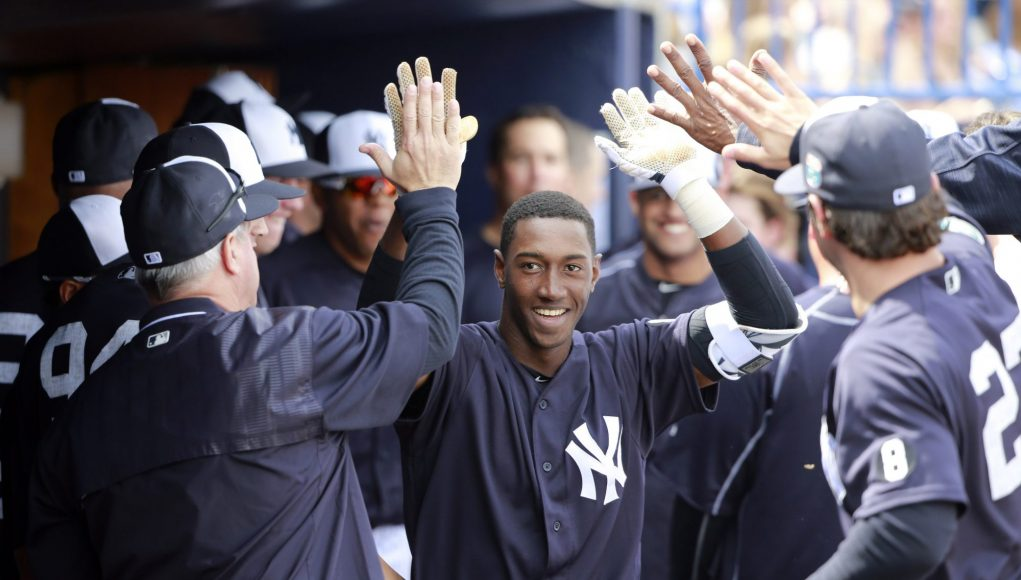 New York Yankees: Jorge Mateo getting work in at the hot corner