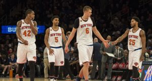 New York Knicks: Derrick Rose is stunting the growth of Kristaps Porzingis