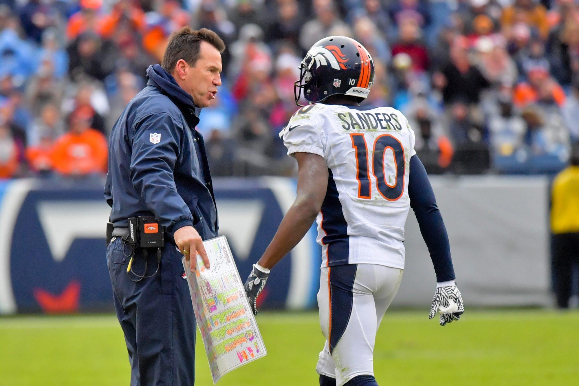 Emmanuel Sanders missed practice to party, lied to Denver Broncos says wife