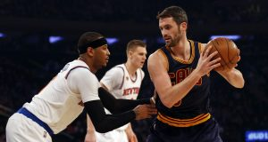 Knicks' continued interest in a Carmelo Anthony-Kevin Love swap shows rebuilding reluctancy 1