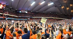 An inside look at the Syracuse court-storming after Duke victory (Video)