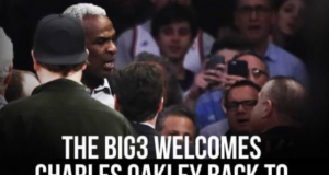 Ice Cube's Big 3 Shoves Charles Oakley In the Face of Madison Square Garden