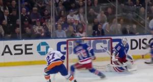 New York Islanders' Anders Lee Ties Game Against Rangers With Slick Feed (Video)