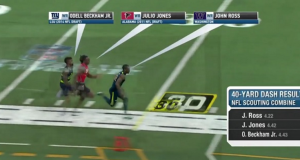 Watch John Ross' 40-Yard Dash Mixed In With Odell Beckham Jr. and Julio Jones (Video)