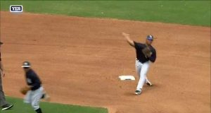 New York Yankees: Gleyber Torres Unleashes Cannon On Double Play Ball (Video)