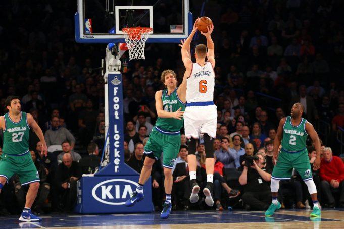New York Knicks: Kristaps Porzingis Congratulates Dirk on Reaching 30,000 Points