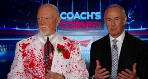 Canadian Mr. Hockey Don Cherry Wears 'Murder Suit' on Set (Photo) 5