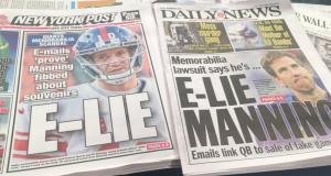 New York Tabloids All Over Eli Manning for Memorabilia Scandal 2