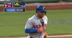 Mets' Yoenis Cespedes Brutalizes Ball, Smacks Home Run in Philadelphia (Video)