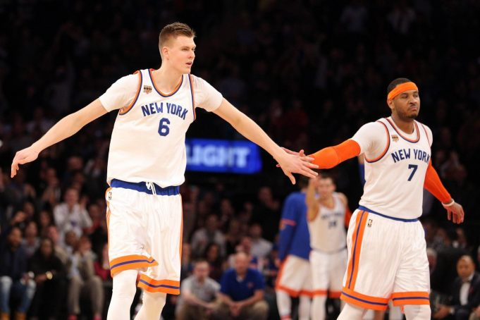 New York Knicks News Mix, 4/18/17: Drama in Melo Split, KP Playing for Latvia
