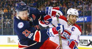 New York Rangers' Henrik Lundqvist Battles Carey Price in Stanley Cup Playoffs 1