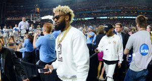 New York Giants' Odell Beckham Jr. Rooting For North Carolina at NCAA Championship (Video)