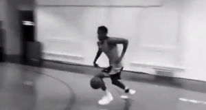 Knicks: Prospect Frank Ntilikina Worked Out in Carmelo Anthony's Gym (Video)