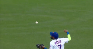 New York Mets SS Jose Reyes Finishes Tremendous Juggling Catch (Video)