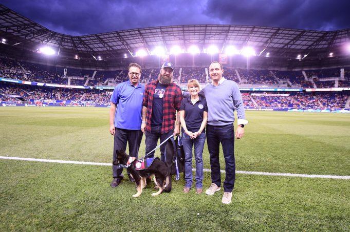 New York Red Bulls, Southern New Hampshire University Present Trained Service Dog to U.S. Veteran