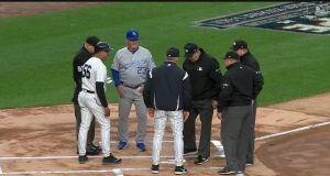 New York Yankees Manager Kisses Up To Umpires Prior to Tonight's Game (Video)