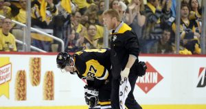 Pittsburgh Penguins' Sidney Crosby Leaves Game 3 After Head Injury (Video)