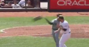 Bryce Harper Charges Mound, Fails Miserably On Helmet Throw (Video)