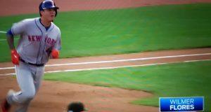 New York Mets: Wilmer Flores Breaks Tie With 391-foot Opposite Field Homer (Video)