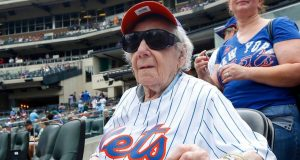 101-Year-Old New York Mets Fan Rudal 'Rudy' Ahlen Attends First Game