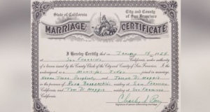 Joe DiMaggio-Marilyn Monroe Marriage Certificate Has Been Sold