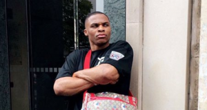 Russell Westbrook Shows Off Gucci Diaper Bag In Paris (Photo)