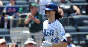 New York Mets' 'Jack' deGrom Belts First Career Home Run (Video)