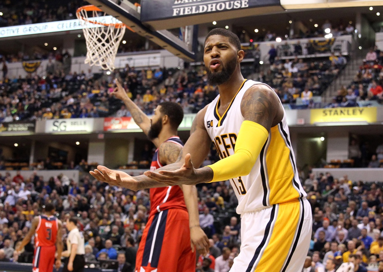 John Wall Attempting to Lure Paul George to Wizards (Report)