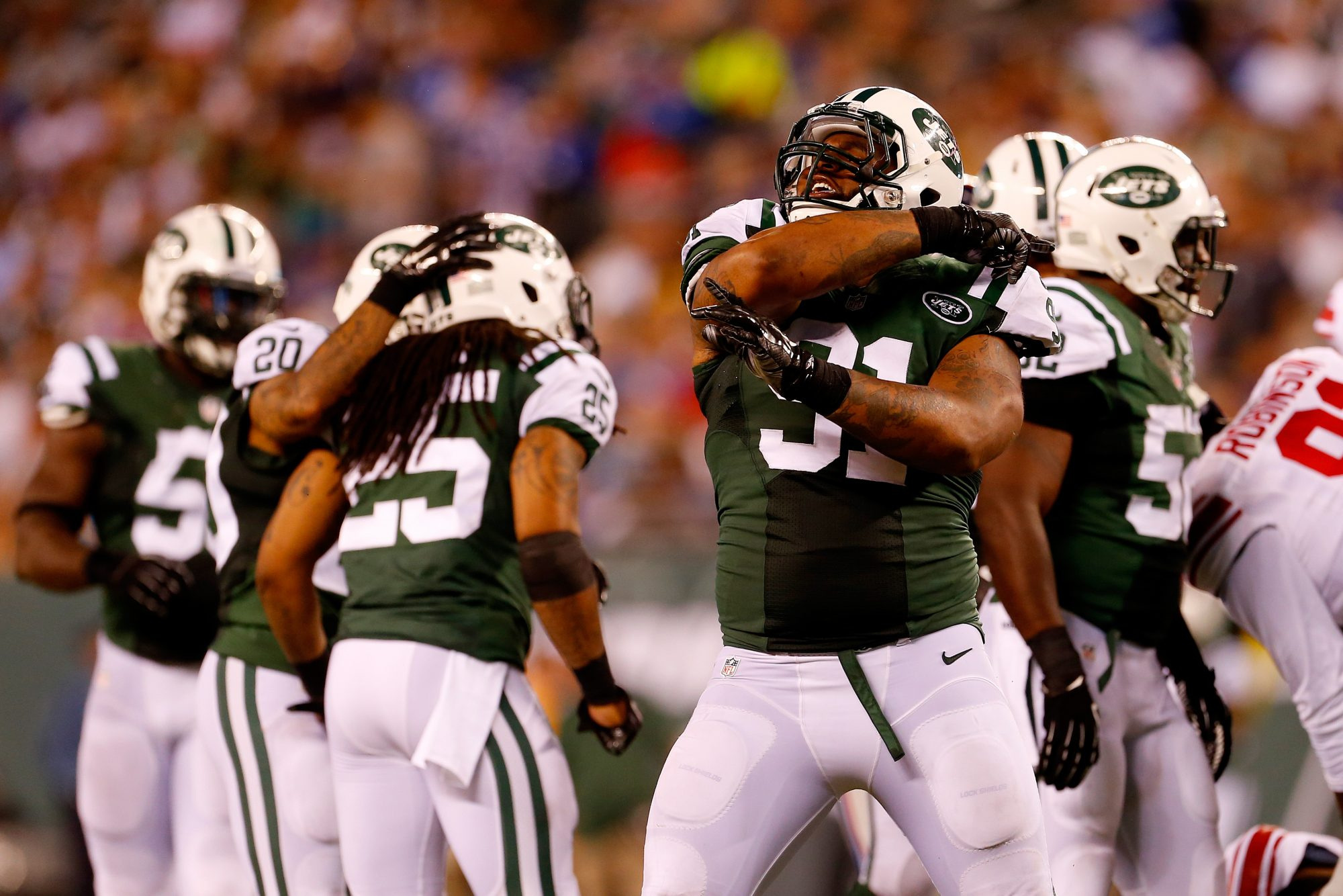 New York Jets: Sheldon Richardson vs. Brandon Marshall in the Snoopy Bowl 1