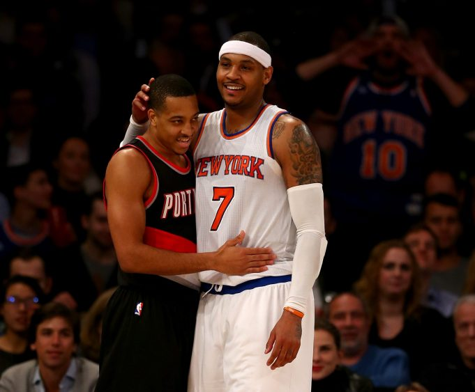 Knicks: Blazers Guards Still Recruiting Carmelo Anthony (Report)