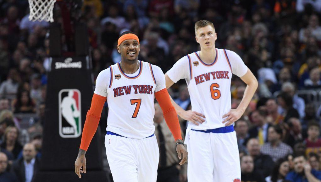 Carmelo Anthony in a Knicks Uniform Means Continued Halt In Kristaps Porzingis' Development 1