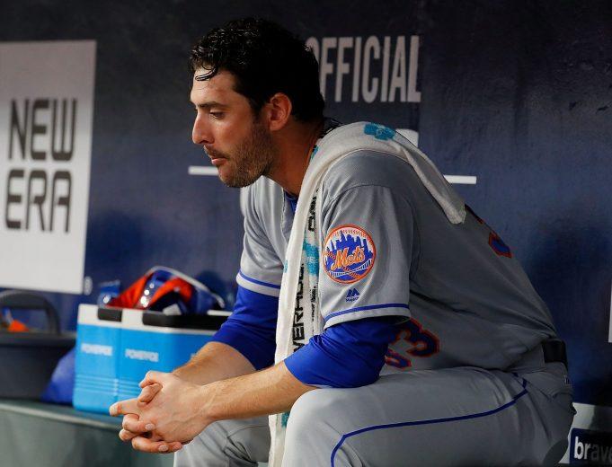 New York Mets Pitcher Matt Harvey Throws Batting Practice