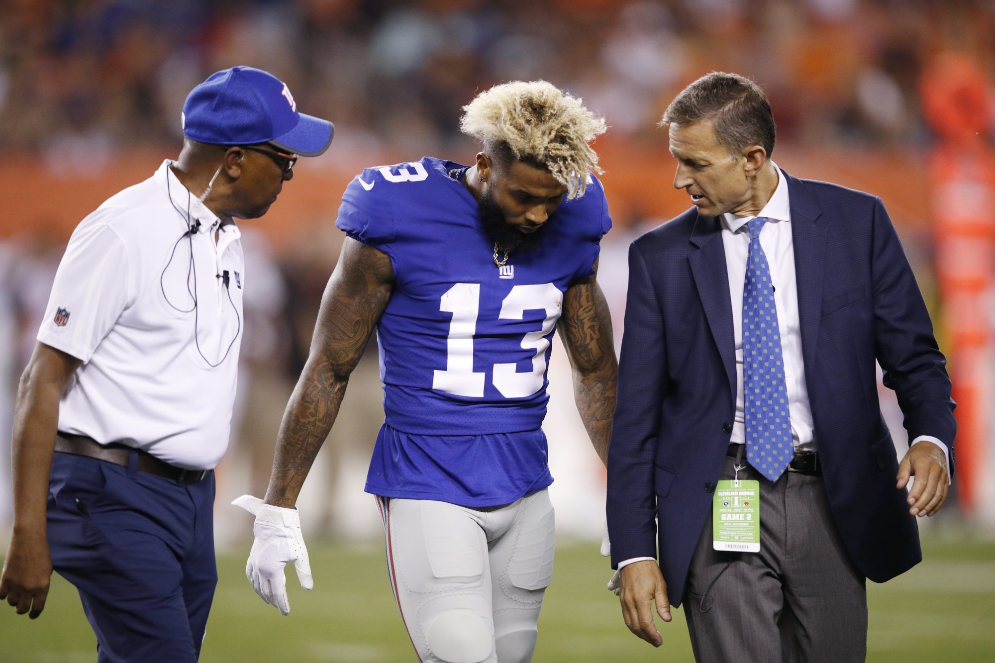 New York Giants Preseason Week 2: O-Line Pathetic Again, Odell Beckham Jr. Injured (Highlights)