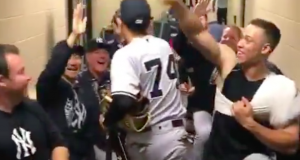 New York Yankees Hilariously Greet Ronald Torreyes In Locker Room (Video)