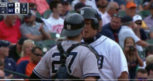 New York Yankees: Miguel Cabrera, Austin Romine Spark Bench-Clearing Brawl (Video)