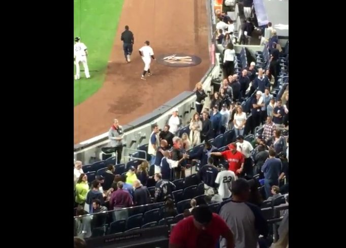 Marlins Man Breaks Up Fight at New York Yankees-Red Sox Game (Video)