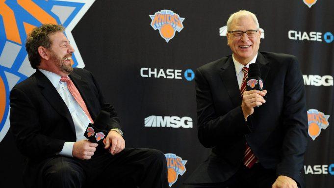 New York Knicks James Dolan, Phil Jackson