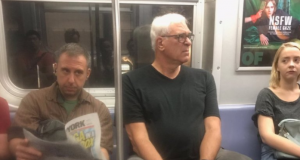 Former New York Knicks Exec Phil Jackson Spotted on Subway Again (Photo)