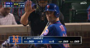 New York Mets: Matt Harvey's Batting Numbers Reflect Off-Field Success (Photo)