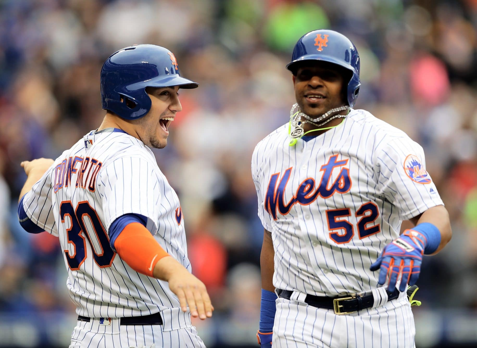 Yoenis Cespedes Michael Conforto New York Mets